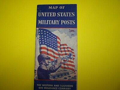 Map of US Military posts 1944