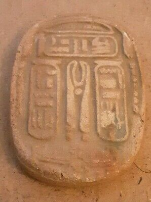 Rare Egyptian Stone Tablet Carved Amulet, Ancient Hieroglyphics. Valley Of Kings