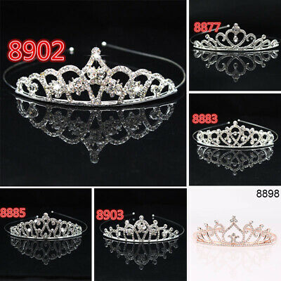 Bridal Wedding Crystal Tiara Headband Princess Prom Crown Kids Girl Hairband AU