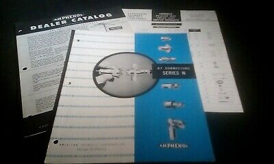 Amphenol 1956 RF Connector Catalog Pamphlet With Price List & Antenna Brochure