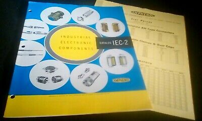 Amphenol 1956 Industrial Electronic Component Catalog 15 Pages IEC2 AN Ribbon RF