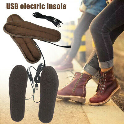 USB Electric Heated Shoes Insoles Pads Foot Sock Warmer Shoes Boot Heater Insole