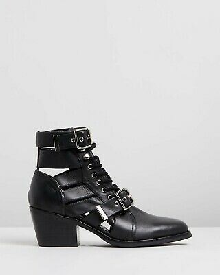 Tony Bianco black cut-out style ankle boots - size 7