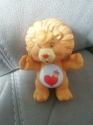Vintage Rare Care Bears Poseable Figure Cousin Lion Heart 1980's
