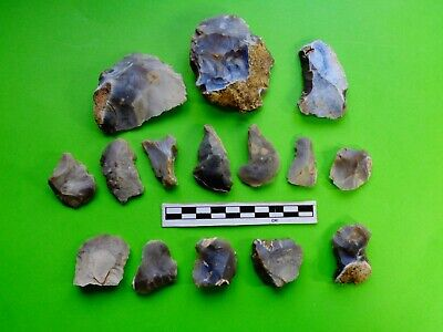 Flint Group of Tools;Mesolithic /Neolithic  (G2)- Recent Dorset Finds- Look!