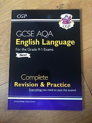 Cgp Gcse Aqa (9-1) English Language Revision And Practice Guide, Like New