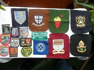 QUANTITY OF SEW ON BADGES, Various Sizes & Types