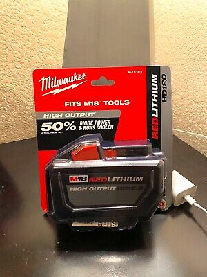 NEW Milwaukee 48-11-1812 M18 18V Lithium-Ion High Output Battery Pack 12Ah 12.0