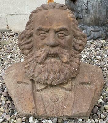 Large Cast Iron Bust of Friedrich Engels - Heavy 39cm x 47cm - German Communist