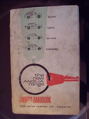 FORD Anglia Standard/Super/Estate/De-Luxe ORIGINAL 1963 OWNERS HANDBOOK
