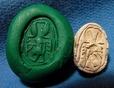 Hyksos 1630 - 1522 BC Scarab seal JUDAEA Middle bronze Canaanite Archaeology.