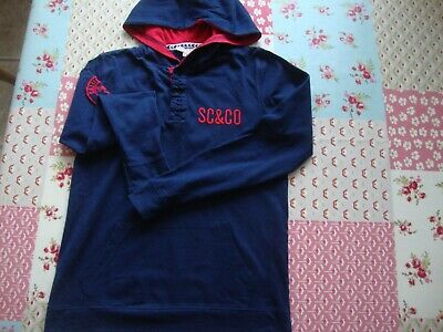 Soul Cal & Co Long Sleeve Hooded Navy Top For Age 9-10