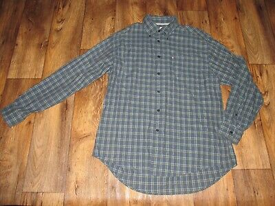 Tommy Hilfiger Long Sleeve Button Front Shirt, Mens Sz Lg, Blue/White/Yellow,
