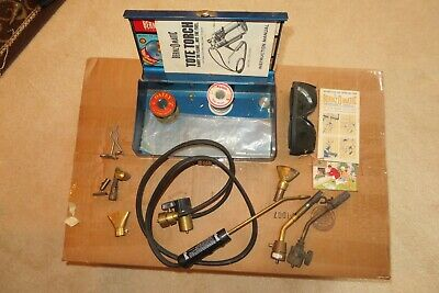 Bernzomatic brazing torch plus 2 propane torches and supplies - with Vintage box