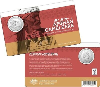 2020 - The Afghan Cameleers.............. (RAM carded 50c coin)  ......... QL