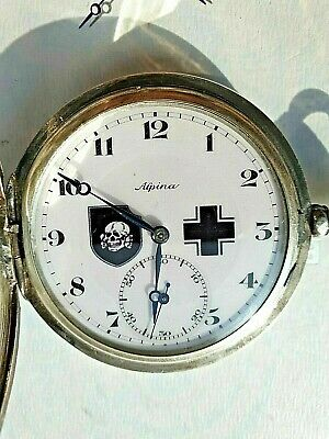 WW2 German Silver Alpina Pocket Watch