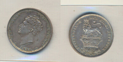 Great Britain: 1825 Shilling King George IV S-3812 almost UNC