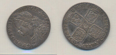 Great Britain:George II 1758 Shilling S-3704 good EF