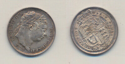 Great Britain: 1817 George III SIxpence S-3791 Great old tone Uncirculated