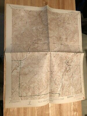 Vintage 1936 USGS Los Angeles County topo map of Red Mountain quadrangle