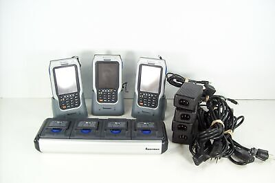 Lot of 3 Intermec CN2 Pocket PC Barcode Scanners w/ Charger and Batteries Tested