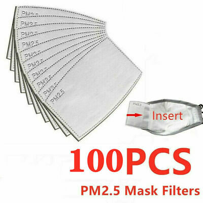 10/20/30/50/100PCS Face Cover Filter Replacement Activated Carbon Filters Lots