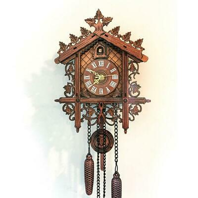 Wall Cuckoo Clocks Brown Forest Wooden Hand-Carved Cuckoo Clock House Home Decor