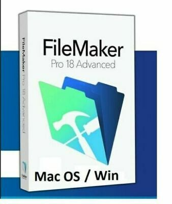 FileMaker Pro Advanced 18 ( MacOS + Windows) Full