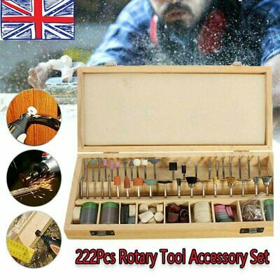222Pcs Rotary Accessory Grinding Tool Set Polishing Cutting Bit Kit for UK SELL