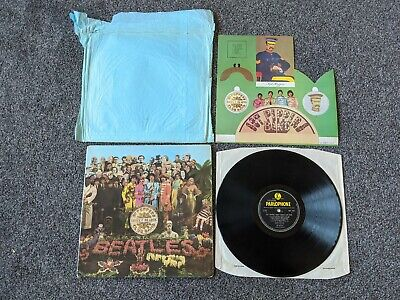 The Beatles 1967 Uk 1St Press Sgt Peppers Lonely Hearts Club Band & Shop Bag