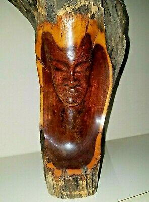 Hand Carved Monkey Pod Wooden Sculpture!  Appraisal included!  Gorgeous!