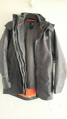 Karrimor 3-In 1  Grey Child Jackets  Separate Fleece Jacket Age 11-12 Years