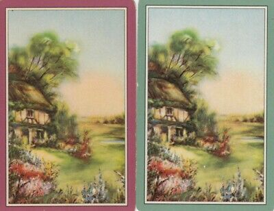Vintage Swap Playing Card - 2 Single - Cottage & Houses - #7