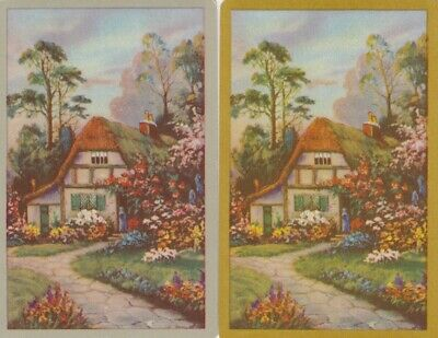 Vintage Swap Playing Card - 2 Single - Cottage & Houses - #15