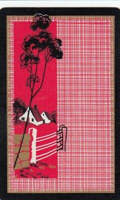 Vintage Swap Playing Card - 1 Single - Cottage & Houses - A