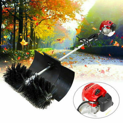 USED!52cc Gas Power Nylon Brush Sweeping Broom Turf Lawns Hand Held Sweeper SALE