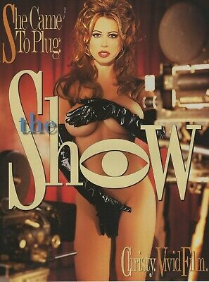 "CHRISTY CANYON Rare Original 2-Sided Vivid THE SHOW 8.5""x11"" promo photo! AVN"
