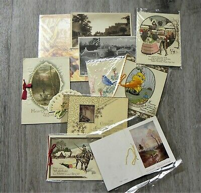 Lot of 11x Vintage Greeting Cards/ Postcards - Collectable