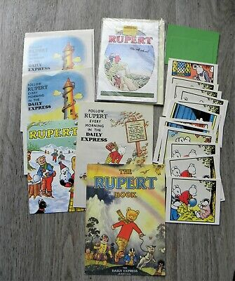Lot of 23x Rupert Bear Greeting Cards - Vintage 1983/ Collectable