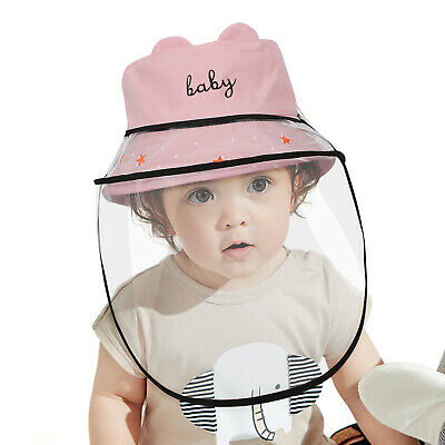 Kids Safety Full Face Shield Anti-Saliva Buckle Sun Hat Protective Fishermen Cap