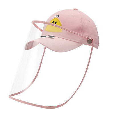 New Kids Safety Fisherman Cap Protective Anti-saliva Bucket Hat Full Face Shield