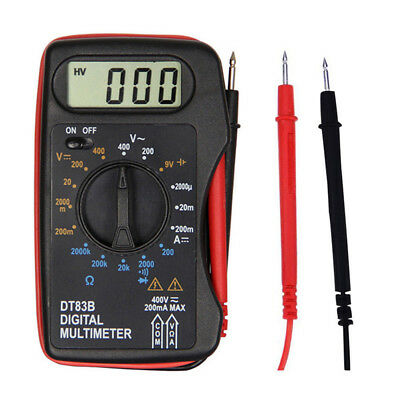 Portable Mini LCD Digital Multimeter Pocket Ammeter Voltmeter Ohm Meter Volt TNA