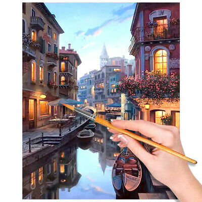 Venice Paint by Numbers DIY Large Canvas Oil Painting Kit Unframed Home Crafts