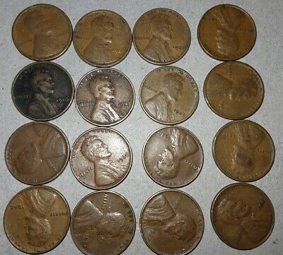 USA 16X, Lincoln 1cent Coins, Unresearched, Mixed Dates. Lot3.