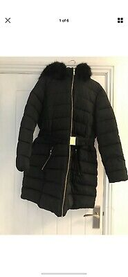 Black Hooded Maternity Winter Coat Size 12