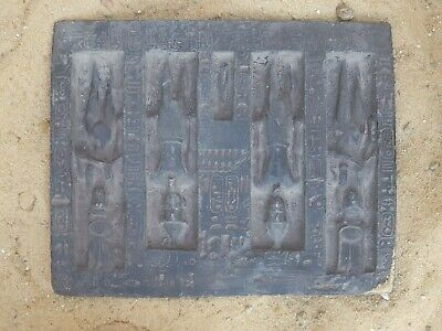Rare Antique Ancient Egyptian Stela King Ramses & Loved Wife united Egypt1279 BC