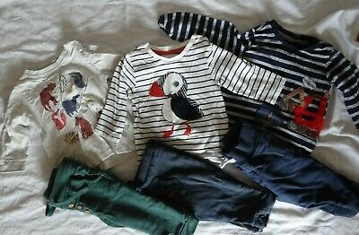 Cute M&S Baby Boys clothes 3x outfits bundle 6-9 months PUFFINS, DIGGER