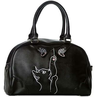 Banned Apparel Cute Black & White Cat Meow Purse NWT Retro Embroidered Novelty