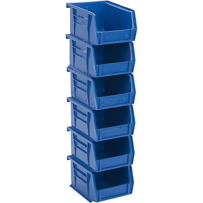 Quantum Heavy-Duty Storage Bins-6-Pk. Blue #QUS 210 B
