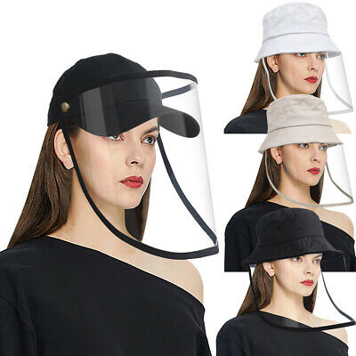 Anti-Saliva Baseball Cap Protective Hat Removable Full Face Shiled Fisherman Hat